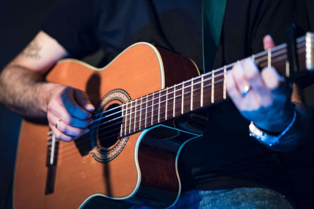 Fingerstyle Guitar being played