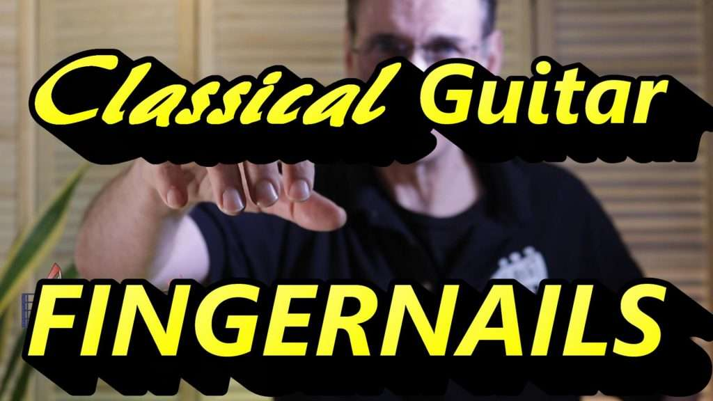 Picture of Hand Showing Classical Guitar Fingernails